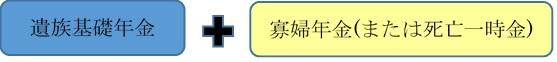 遺族年金図解(国民年金の場合)